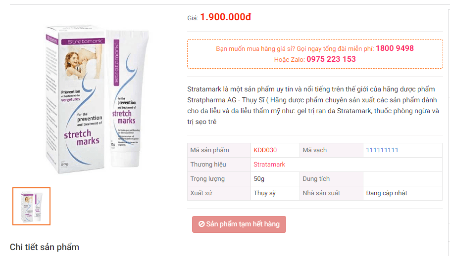 Kem trị rạn da Stratamark có tốt không, giá bao nhiêu, mua ở đâu? 2