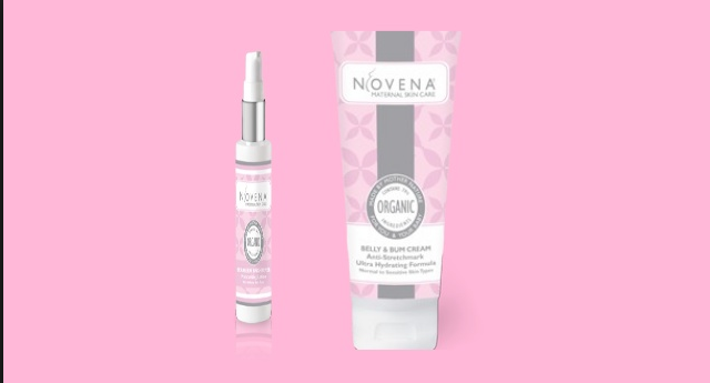 Review kem trị rạn da sau sinh Novena organic stretchmark belly 1