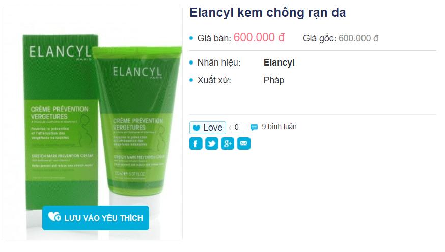 Kem chống rạn da Elancyl 150ml hiệu quả không, giá bao nhiêu? 1