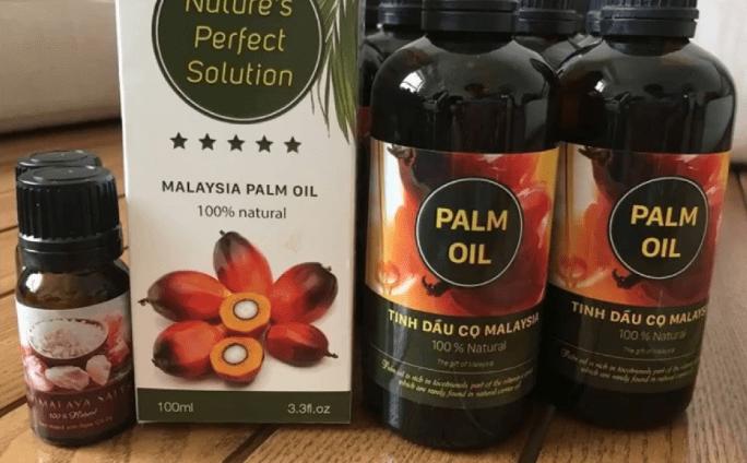 Công dụng của tinh dầu cọ trị rạn da Malaysia