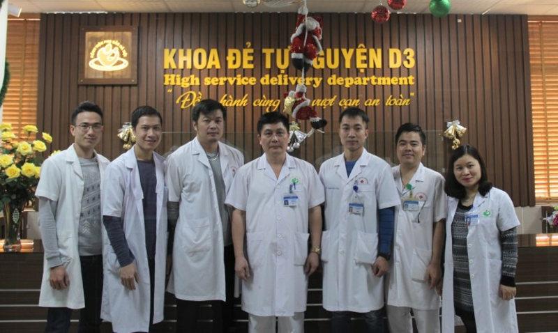 Bác sĩ tại khoa đẻ tự nguyện D3 - Bệnh viện phụ sản Hà Nội