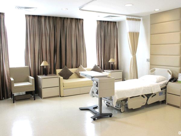 Phòng ở bệnh viện quốc tế Hạnh Phúc đầy đủ tiện nghi