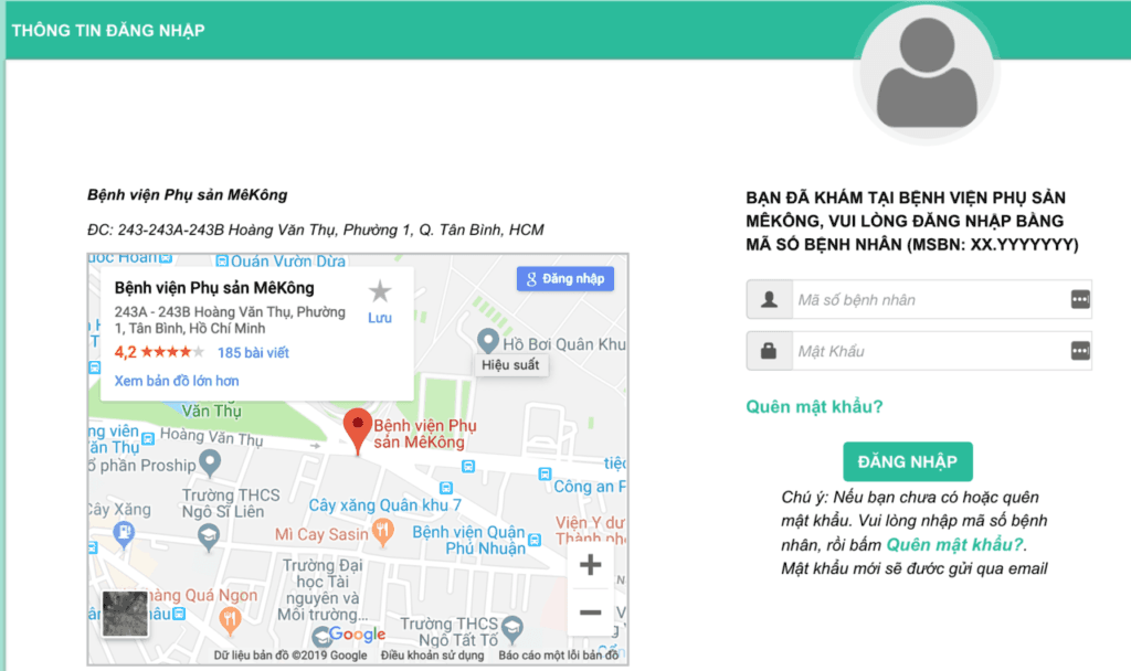 Đặt lịch khám online bệnh viện mekong