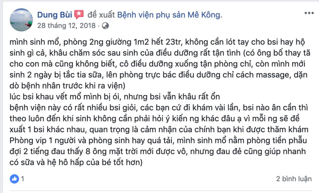 Kinh nghiệm sinh ở bệnh viện mekong 2018 12