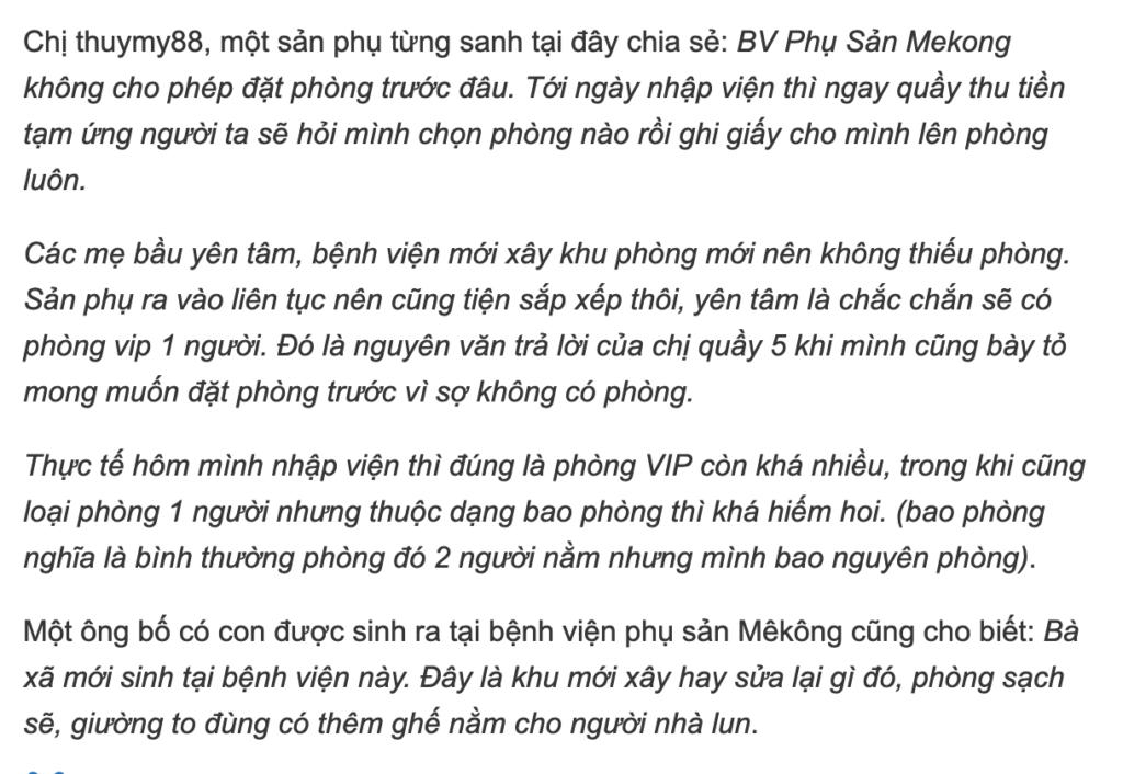 Kinh nghiệm sinh ở bệnh viện mekong 2018 9