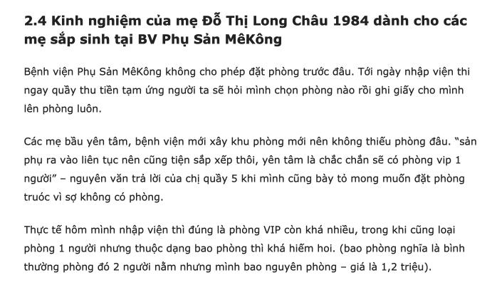 Kinh nghiệm sinh ở bệnh viện mekong 2018 5