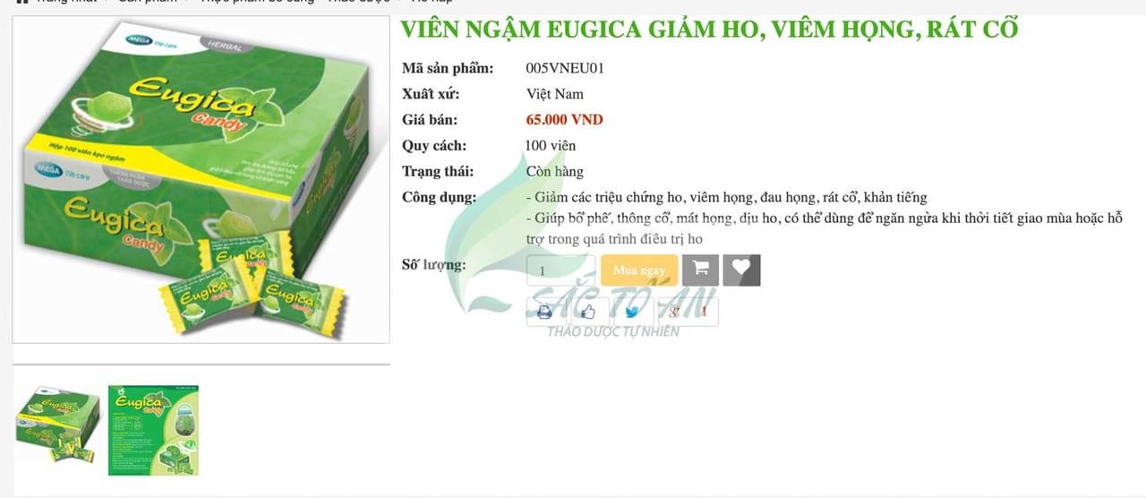 Kẹo ngậm eugica có dùng được cho bà bầu không, giá bao nhiêu? 1