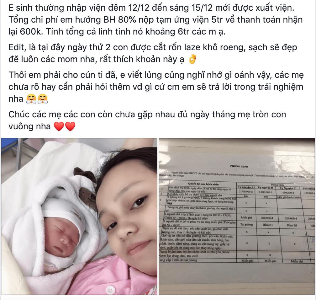 Review dịch vụ sinh con trọn gói bệnh viện 108 mới nhất 2020 9