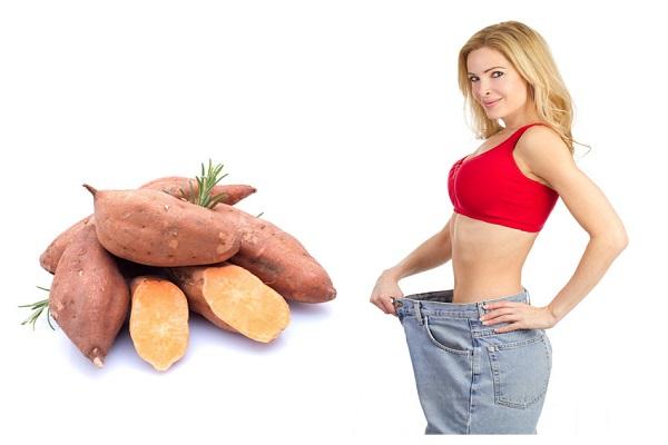 Ăn khoai lang giảm cân sau sinh hiệu quả