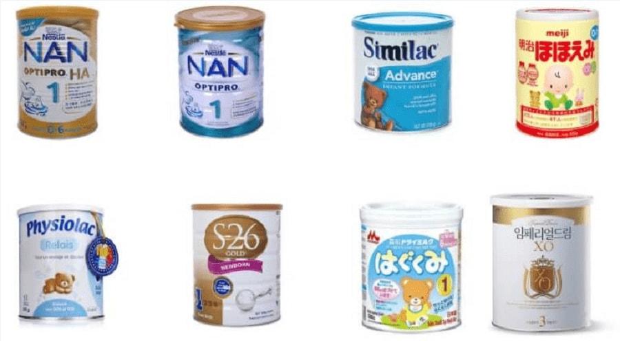 So sánh các loại sữa cho trẻ sơ sinh tốt nhất giúp trẻ tăng cân, ít táo bón 1