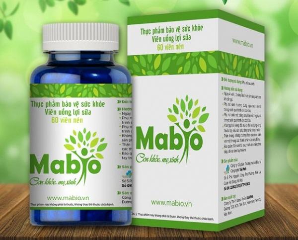 Review viên uống lợi sữa Mabio