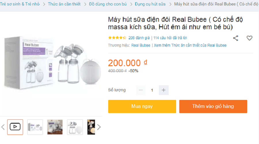 Review máy hút sữa điện đôi Real Bubee có tốt không? Giá bao nhiêu? 5