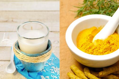 Trị rạn da bằng bột nghệ và sữa chua
