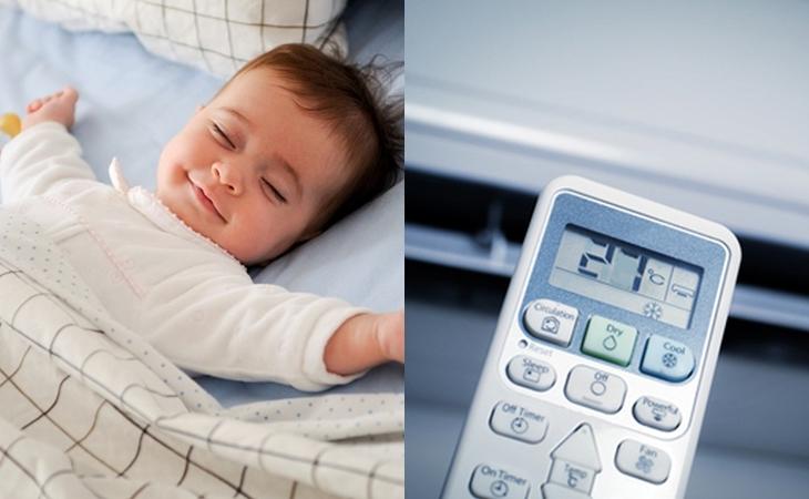 Tư vấn cách sử dụng điều hòa cho trẻ sơ sinh an toàn