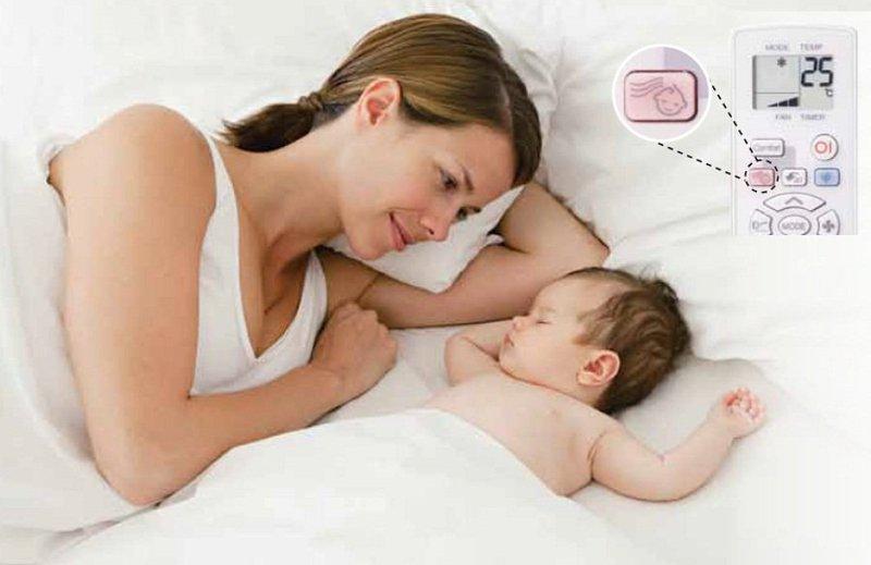 Trẻ sơ sinh có thể nằm điều hòa