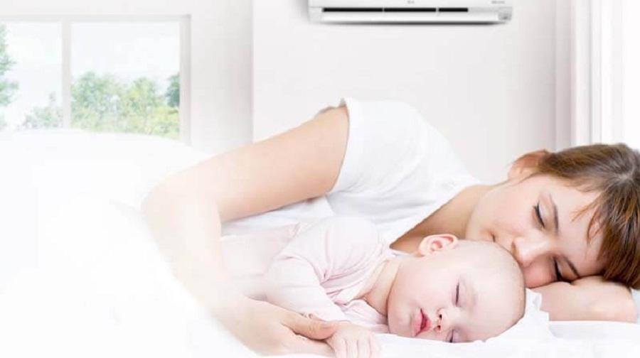 Cách sử dụng điều hòa cho trẻ sơ sinh an toàn không bị ốm 1