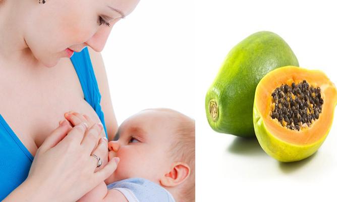 Phương pháp chữa tắc tia sữa bằng quả đu đủ xanh