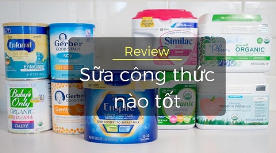 Review top 25 loại sữa công thức cho bé tốt nhất 2020 được mẹ tin dùng 1