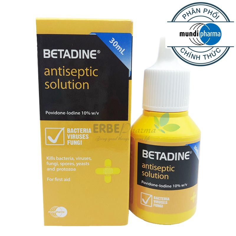 Betadine là sự hòa trộn của iod và polyvinylpyrrolidon (povidon)