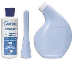 Dụng cụ sử dụng dung dịch Betadine xanh
