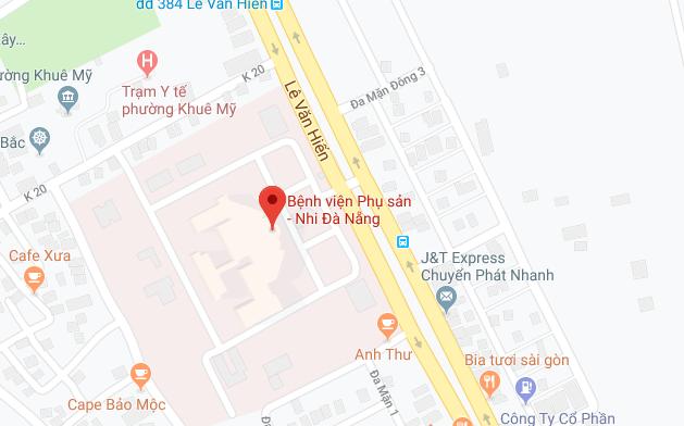 Bản đồ đường đến bệnh viện phụ sản Đà Nẵng