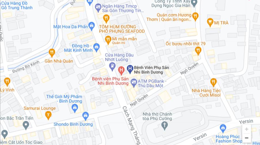 Bệnh viện Phụ Sản Bình Dương ở đâu?