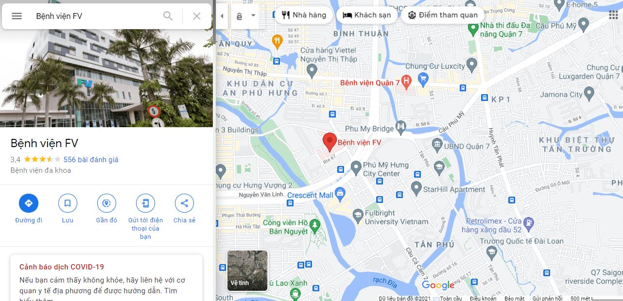 Địa chỉ bệnh viện phụ sản quốc tế FV