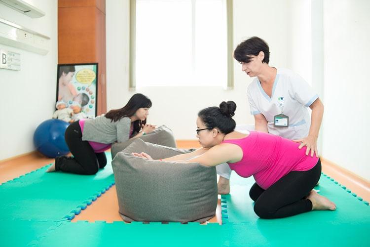 Lớp học tiền sản ở bệnh viện phụ sản quốc tế FV