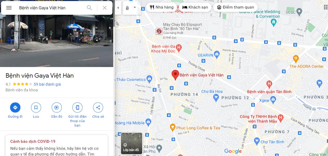 Địa chỉ bệnh viện phụ sản Gaya Việt Hàn